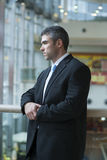 Businessman with serious expression looking off camera Royalty Free Stock Photo