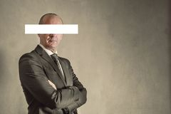 Businessman with serious look. A businessman with serious look royalty free stock image