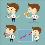 Businessman set action for success, time important,mobile phone Stock Photo