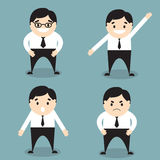 Businessman set of characters emoticons Stock Image