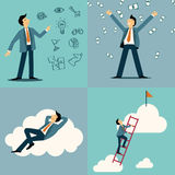 Businessman set Stock Images