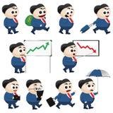 Businessman Set. Vector set of businessman cartoons Royalty Free Stock Photos