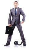 Businessman with shackles Royalty Free Stock Image