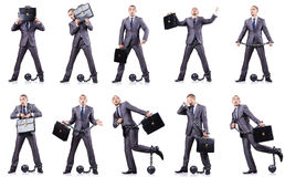 The businessman with shackles Royalty Free Stock Images