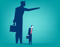 Businessman shadow pointing with him. Concept business illustration. Vector flat Royalty Free Stock Photo