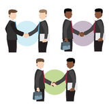 Businessman shake hands. Vector illustration Vector Illustration