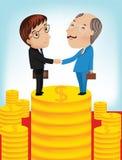 Businessman shake hands vector illustration Stock Photos