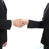 Businessman shakehand for good relationship. Businessman handshake for good relationship with thier marketing with white background Stock Images