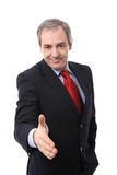 Businessman shaking hand Royalty Free Stock Photo