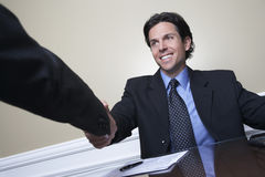 Businessman Shaking Hand With Colleague Stock Photos
