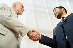 Businessman shaking hands. Royalty Free Stock Photo