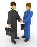 Businessman shaking hands. Traded for a businessman to shake hands. Shaking hands with the first partner meeting. People in suits Royalty Free Stock Image