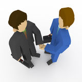 Businessman shaking hands. Traded for a businessman to shake hands. Shaking hands with the first partner meeting. People in suits Royalty Free Stock Images