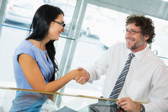 Businessman shaking hands with colleague Royalty Free Stock Image