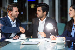 Businessman shaking hands with a colleague Stock Photography