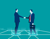 Businessman shaking hands. Concept business illustration. Vector Stock Images