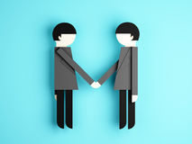 Businessman shaking hands conception Royalty Free Stock Images