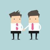 Businessman shaking hands congratulating. Vector Royalty Free Stock Photos
