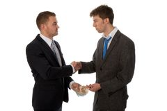 Businessman shaking hands. The deal is made. Royalty Free Stock Photo