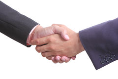 Businessman shaking hands ,include clipping path Stock Photo