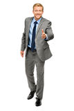 Businessman shaking hands isolated on white Stock Photos