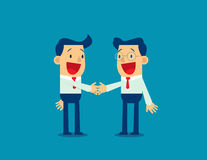 Businessman, shaking hands to seal an agreement. Concept business vector Stock Photos