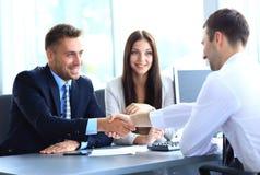 Businessman shaking hands Stock Image