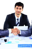 Businessman shaking hands Stock Image