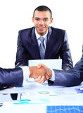 Businessman shaking hands Royalty Free Stock Photo