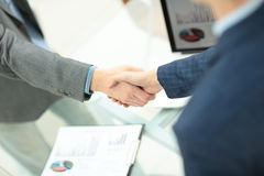 Businessman shaking hands to seal a deal with his partner Royalty Free Stock Photography