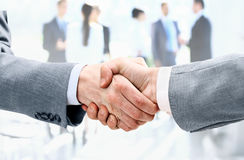 Businessman shaking hands to seal a deal with his partner Royalty Free Stock Images