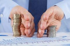 Businessman sharing profit Stock Photo