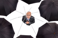 Businessman without shelter Royalty Free Stock Photo