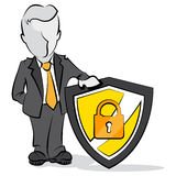 Businessman and shield. Stock Images