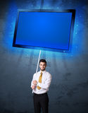 Businessman with shining tablet Royalty Free Stock Images