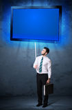 Businessman with shining tablet Royalty Free Stock Photography