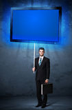 Businessman with shining tablet Royalty Free Stock Photos