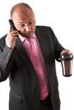Businessman in shock Stock Photos