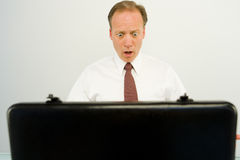 Businessman in a shock stock photos