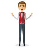 businessman shocked young άτομο έκπληκτο Εξαιρετικά συγκινημένο αγόρι Στοκ Εικόνες