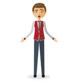 businessman shocked young άτομο έκπληκτο Εξαιρετικά συγκινημένο αγόρι Στοκ Εικόνα