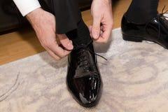 Businessman shoe Stock Photography