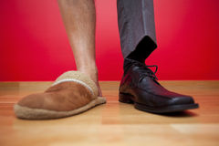 Businessman shoes Royalty Free Stock Photos