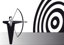 Businessman shooting at target Stock Images
