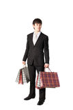 Businessman shopping Stock Images