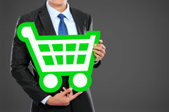 Businessman shopping concept Royalty Free Stock Image