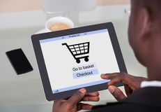 Businessman shopping online Stock Photos