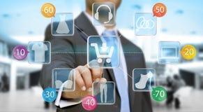 Businessman shopping online Stock Photos
