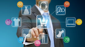 Businessman shopping online Royalty Free Stock Images