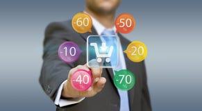 Businessman shopping online Royalty Free Stock Photo